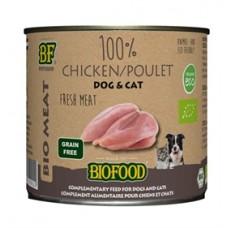 Biofood Organic 100% Kip blik 200 gr