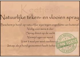 Keetjes- Natuurlijke vlooien en tekenspray 500 ml