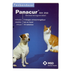 Panacur 250 mg H/K 10 tabletten
